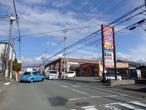 選手の目線の先に富士山が見えるルートです!
