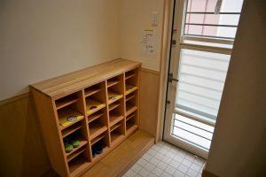病児・病後児保育室の出入り口